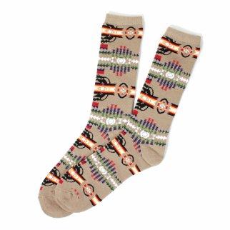ASR Outdoor Adventure Wilderness Socks One Size Fits Most Southwest Pattern Brown