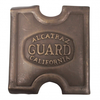 Vintage Brass Alcatraz Prison Guard Belt Buckle Collectible Anson Mills