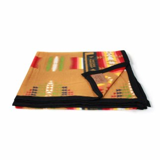 ASR Outdoor Southwest Style Fleece Blanket Small Size Brown