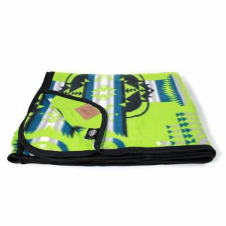 ASR Outdoor Southwest Style Fleece Blanket Full Lime Green
