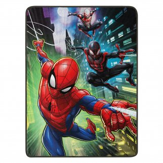 Marvel Spiderman Swing City Soft Throw Blanket 46 x 60 Inch