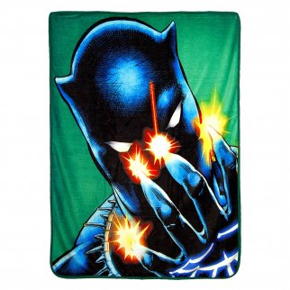 Marvel Black Panther Soft Throw Blanket 46 x 60 Inch