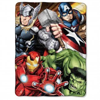 Marvel Four Avengers Soft Throw Blanket 46 x 60 Inch
