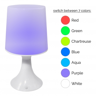 7 Color Changing Options with Two Modes: Manually Select Color or Auto Color Changing