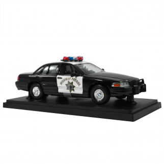 Collectible California Highway Patrol Police Car Replica 1:24 Scale Diecast