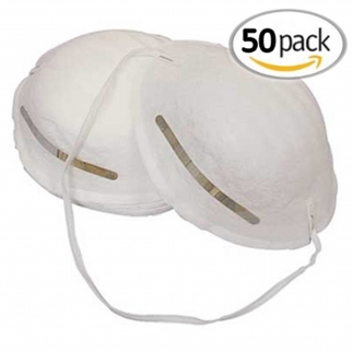 50 Pack Universal Fit Disposable Airborne Safety Dust Mask
