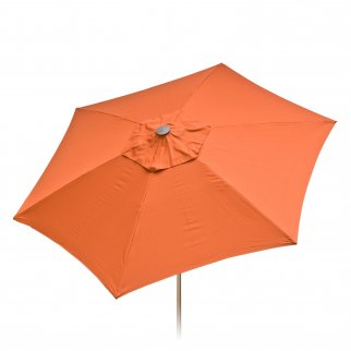8ft Tilt Doppler Vented Market Umbrella Home Patio Outdoor - Rust Colored