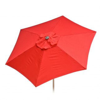9ft Tilt Doppler Market Umbrella Home Patio Sun Shade Canopy - Red