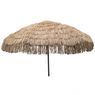 8ft Palapa Tiki Tilting Party Umbrella Home Patio Canopy Sun Brown - Patio Pole