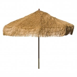 Palapa Tiki Push/Tilt Whiskey Brown Umbrella 9 foot - Patio Pole