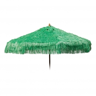Palapa Tiki Push/Tilt Lime Green Umbrella 9 foot - Patio Pole