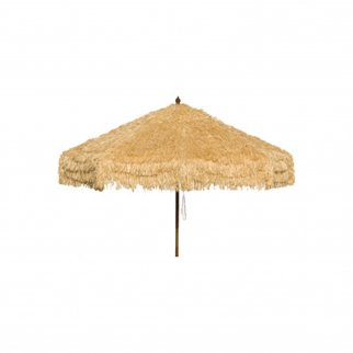 9ft Palapa Tiki Tilting Party Umbrella Home Sun Canopy Natural - Patio Pole