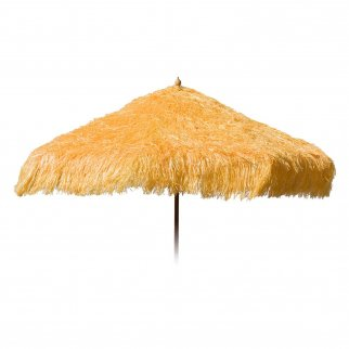 Palapa Tiki Push/Tilt Yellow Umbrella 9 foot - Patio Pole