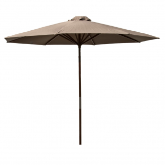 Classic Wood 9 foot Market Patio Umbrella - Chocolate