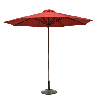 9ft Classic Outdoor Market Umbrella Home Patio Garden Canopy Sun Shelter - Red