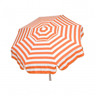 6ft Italian Market Tilt Sun Umbrella Home Patio Orange Stripe - Beach Pole