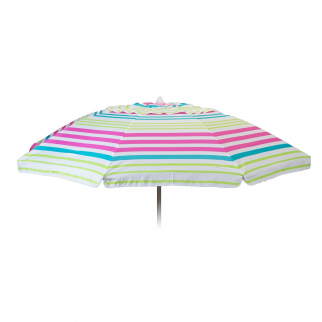 7ft Fun Colored Pink Stripe Beach Umbrella