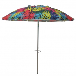 Heininger DestinationGear Beach Palms Push Up Market Umbrella - 7 Ft