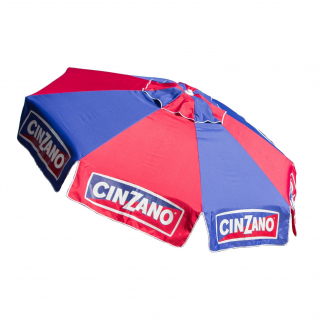 8ft Market Tilt Umbrella Licensed Cinzano Home Patio Outdoor Sun Canopy Shelter