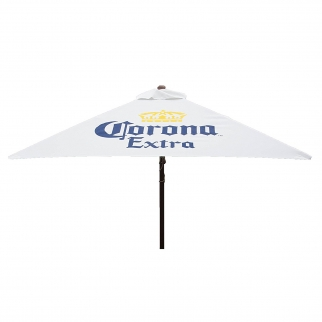 Heininger DestinationGear Corona Beer Push Up Market Patio Umbrella -