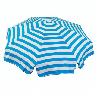 6ft Italian Market Tilt Umbrella Home Patio Sun Canopy Teal Stripe - Patio Pole