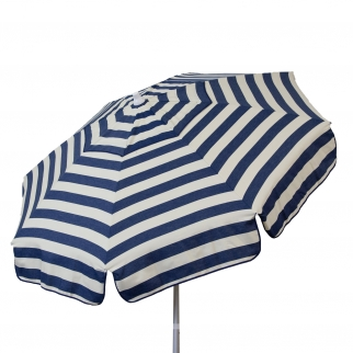 Euro 6 foot Umbrella Acrylic Stripes Navy & Vanilla - Patio Pole