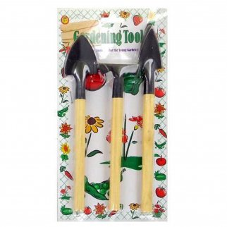 3 Piece Mini Wooden Handheld Gardening Tool Set