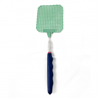 ASR Outdoor Extendable Fly Swatter Durable Telescopic Pole Anti Slip Green