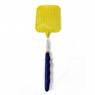 ASR Outdoor Extendable Fly Swatter Durable Telescopic Pole Anti Slip Yellow