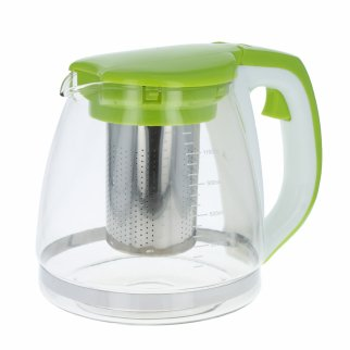 Beille Home Hot Cold Stainless-Steel Glass Tea Pot Infuser