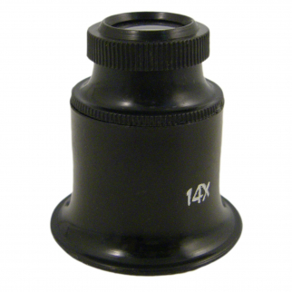Jewelers Eye Loupe 14X Magnification for Precision Hobby Craft Projects