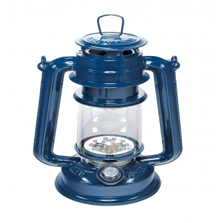 15 LED Battery Operated Hurricane Lantern - Blue