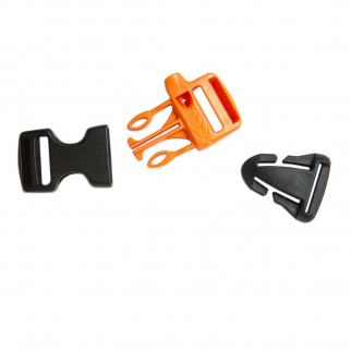 Gear Aid Replacement Buckle Whistle Kit for Emergency Survival Safety - Black