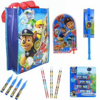 Nickelodeon Paw Patrol Kids Easter Basket Tote Bag Bundle Toys Gift Set