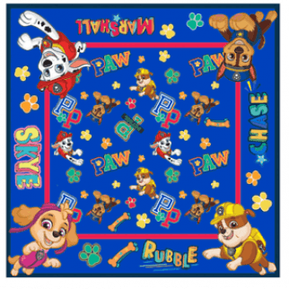 Boys Girls Kids Comfortable Paw Patrol Bandana Face Cover
