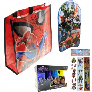 Marvel Superheroes Kids Toy Easter Tote Bag Basket Gift Set