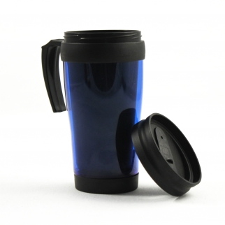 16oz Blue Travel Coffee Mug