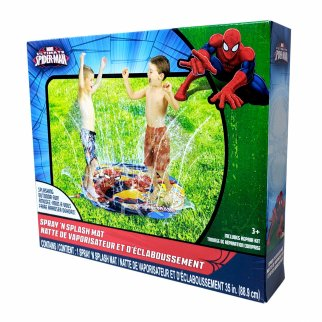 Spiderman Water Sprinkler Spray N Splash Mat Summer Game