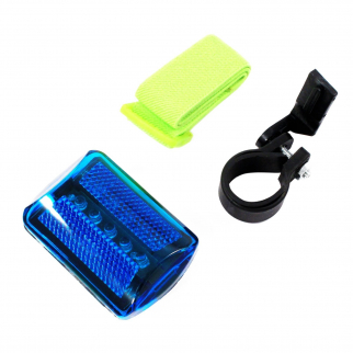7 Function 5 LED Blue Safety Flasher with Strap and Bike Attachment Outdoor Rec