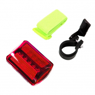 7 in 1 Bike Runner Safety Flasher Light Red LED with Strap and Bike Attachment