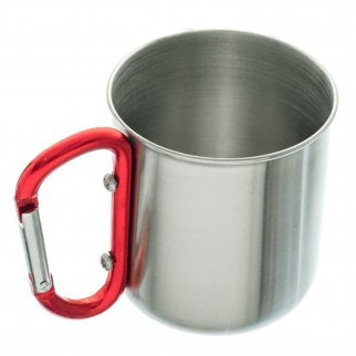 ASR Outdoor 10 fl oz Travel Mug with Carabiner Stainless Steel Camping Cup