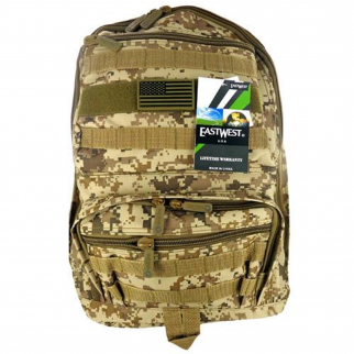 ASR Outdoor Large 19 Inch Camo Print Backpack Tan Color Side Mesh Pocket