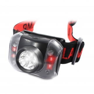7 LED Three Stage Head Lamp with 90 Degree Tilting Head and Adjustable Headstrap