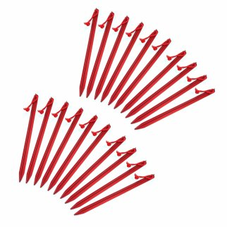 ASR Outdoor 9in Aircraft Grade Aluminum Camping Stakes 20pk