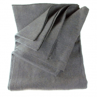 ASR Outdoor - 64 inch x 84 inch Grey Wool Blanket - 4 Pounds 80 Percent Wool