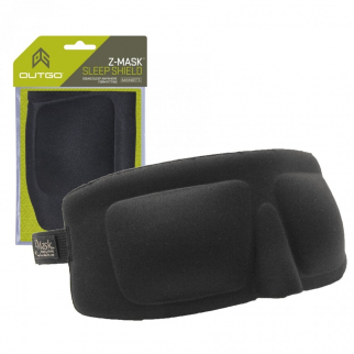 Sleep Mask System for Travel Z-Mask Elastic Eye Shield Black