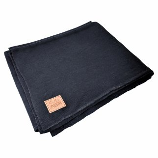 ASR Outdoor 64 inch x 84 inch Black Wool Blanket 4 Pound