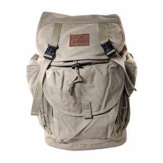 ASR Outdoor Day Hike Dackpack 30L High Capacity Gold Prospecting Rucksack, Khaki