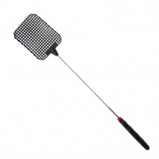 ASR Outdoor Black Extendable Fly Swatter - Durable Telescopic Pole