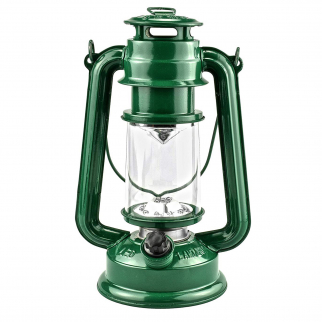 15 LED 9.5 in Hurricane Hanging Lantern Camping Light Green